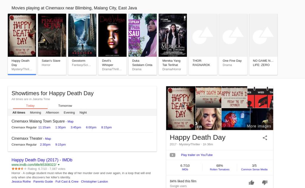 Google Film Listeleri