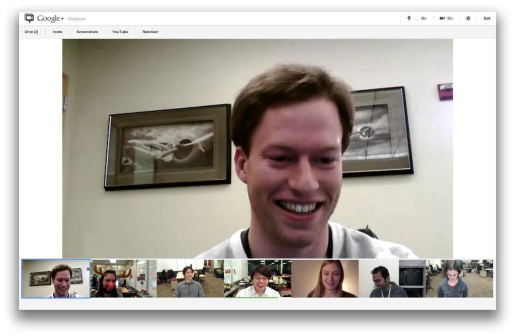 Google Hangouts görüntülü konuşma