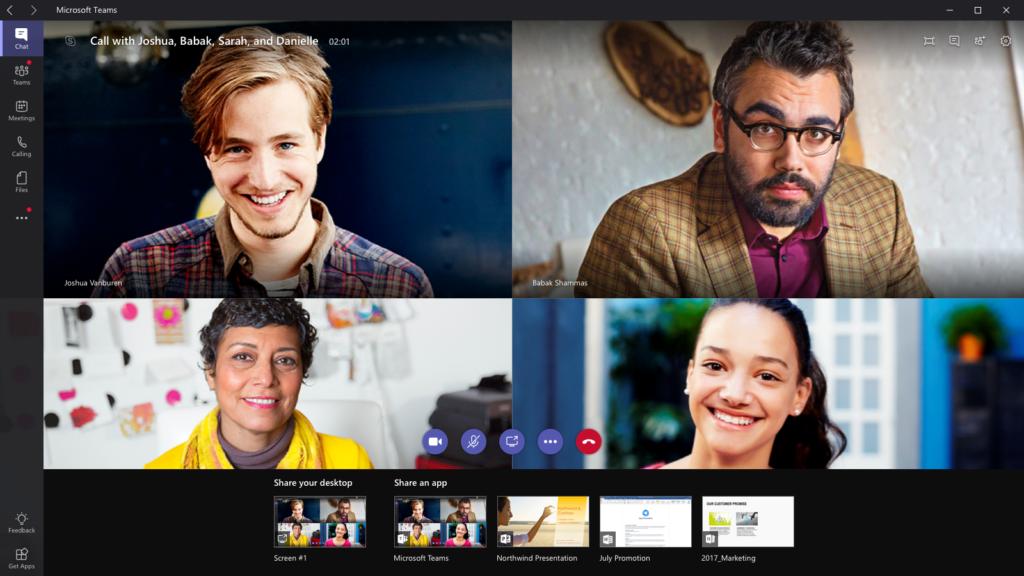 Microsoft Teams Görüntülü Sohbet Uygulaması
